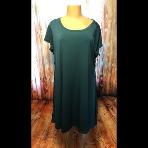 Green Dress with lace up sides